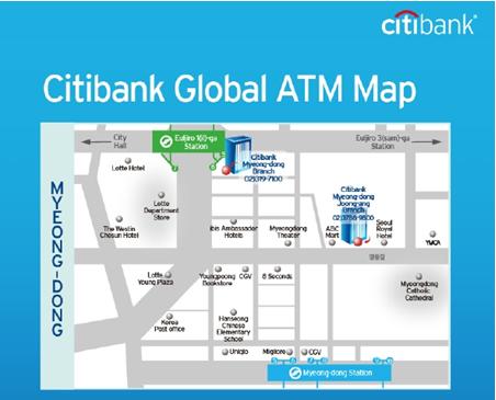 """Citibank wandelt alle Geldautomaten in Filialen in """"Global ATM"""" on"""